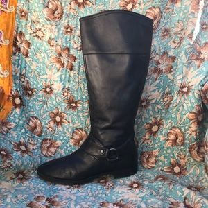 Ralph Lauren black leather riding boots size 8 1/2